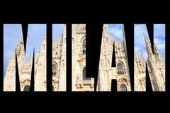 Mot de Milan Photographie stock