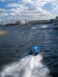 mot de moteur de championnat de bateau Photographie stock libre de droits