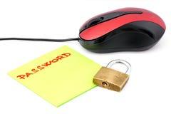Mot de passe électronique Photo libre de droits
