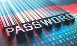 Mot de passe Access de code barres Image libre de droits