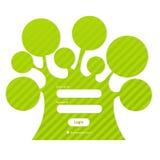 Mot de passe de procédure de connexion sous la forme de l'arbre Photo libre de droits