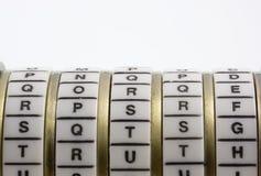 Mot de passe, mot-clé ou combinaison - vérité. Cryptex Photo stock