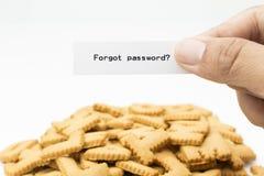 Mot de passe oublié Photos libres de droits