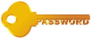 Mot de passe protégé Images libres de droits