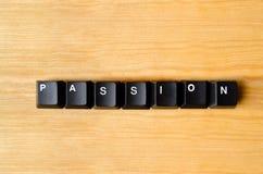 Mot de passion Photographie stock libre de droits