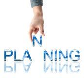 Mot de planification Images libres de droits