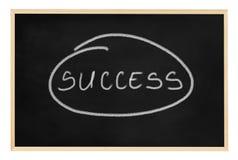 Mot de réussite écrit sur un tableau noir. Image libre de droits