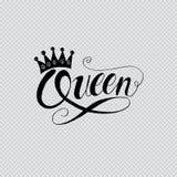 Mot de reine avec la couronne illustration libre de droits