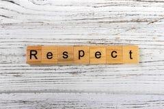 Mot de RESPECT fait avec le concept en bois de blocs Photographie stock libre de droits