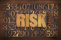 Mot de risque dans le type en bois photo libre de droits