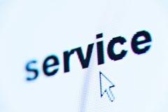 mot de service Image stock