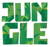 Mot de végétation de jungle Images stock