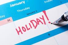 Mot de vacances Photos libres de droits