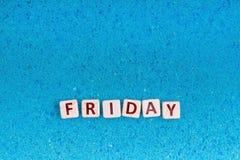 Mot de vendredi sur la pierre Images stock