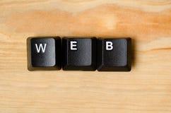Mot de Web Photographie stock libre de droits