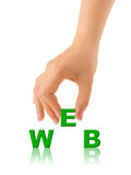 mot de Web de main images libres de droits
