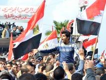 mot demonstrering av egyptiermilitärregel Fotografering för Bildbyråer