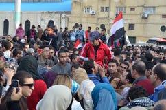 mot demonstrering av egyptiermilitärregel Royaltyfria Bilder