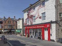 In mot den främre gatan Brixham Torbay Devon Endland UK Fotografering för Bildbyråer