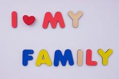 Mot des lettres en bois Images stock