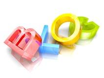 Mot des textes de blog des lettres 3d colorées Photo libre de droits