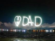 Mot des textes de papa d'amour Photos libres de droits