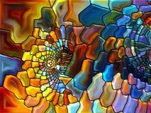 In mot Digital målat glass Royaltyfria Bilder