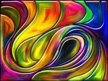 In mot färgvirvel Arkivbild