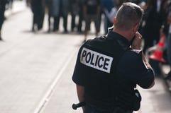 mot franska arbetare för pensionreformslag Royaltyfria Foton