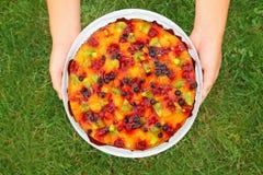 mot fruktgräspien Royaltyfri Fotografi