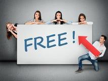 Mot gratuit sur la bannière photos libres de droits