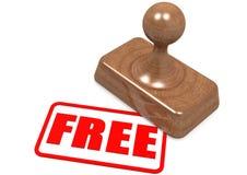Mot gratuit sur le timbre en bois Photo stock