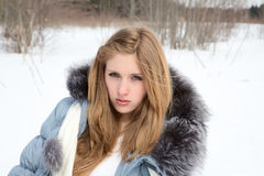 mot härlig flickatree Royaltyfria Foton