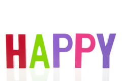 Mot heureux photographie stock libre de droits