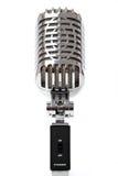 mot isolerad retro white för mikrofon Royaltyfria Foton