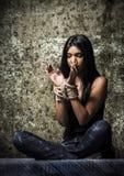 Mot mänsklig människohandel fotografering för bildbyråer