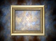 mot målat guld- för bakgrundsram Royaltyfri Fotografi