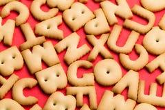 Mot mélangé de biscuit Images libres de droits