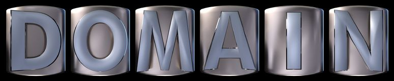 Mot métallique de domaine illustration de vecteur