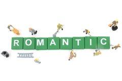 Mot miniature de renforcement d'équipe de travailleur romantique Photo stock