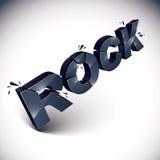 Mot noir brisé dimensionnel de roche de vecteur, musique contemporaine illustration libre de droits