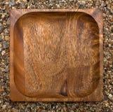mot plattan stenar fyrkanten den träövre sikten Fotografering för Bildbyråer