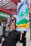 mot protesten uk för bankirkonferenslibdem Arkivbild