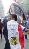 mot rådet som visar militära egyptier Royaltyfri Fotografi