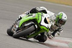 MOT : Réchauffage britannique de Superbike Image stock