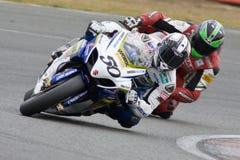 MOT : Réchauffage britannique de Superbike images stock