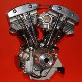 mot red för bakgrundsmotormotorcykel Royaltyfri Fotografi
