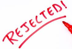 Mot rejeté écrit par main illustration libre de droits