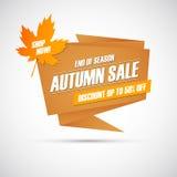 mot rouge de vente de lames d'automne Bannière d'offre spéciale, remise jusqu'à 50%  Fin de saison Boutique maintenant ! Images stock