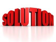 Mot rouge des textes de SOLUTION avec la réflexion Images libres de droits
